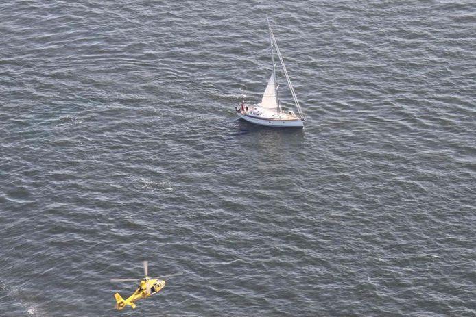 Beeld ter illustratie: een reddingsactie voor de kust van Wassenaar.