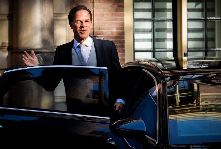 Demissionair Premier Mark Rutte op Prinsjesdag. Beeld Freek van den Bergh / de Volkskrant