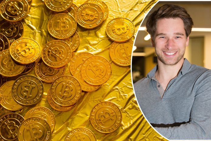 """""""De bitcoin is in de eerste plaats een belegging, geen betaalmiddel"""", stelt Levi Haegebaert."""