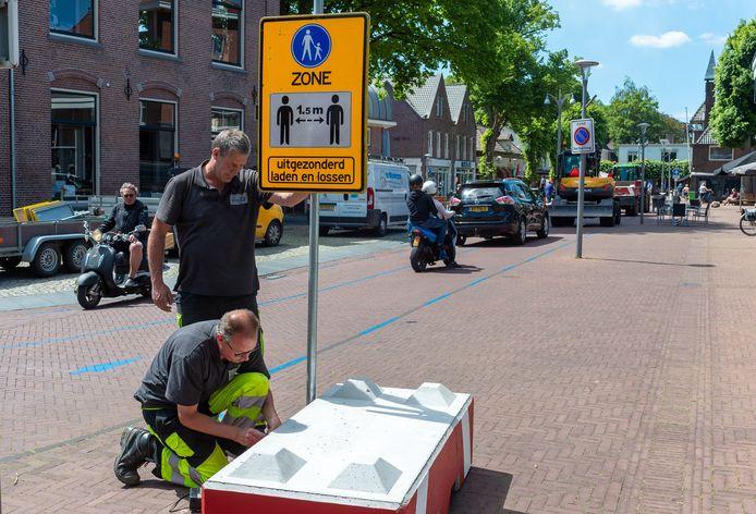 Dorpscentra van Epe en Vaassen zijn deze zomer afgesloten voor auto's en fietsers in verband met coronamaatregelen.
