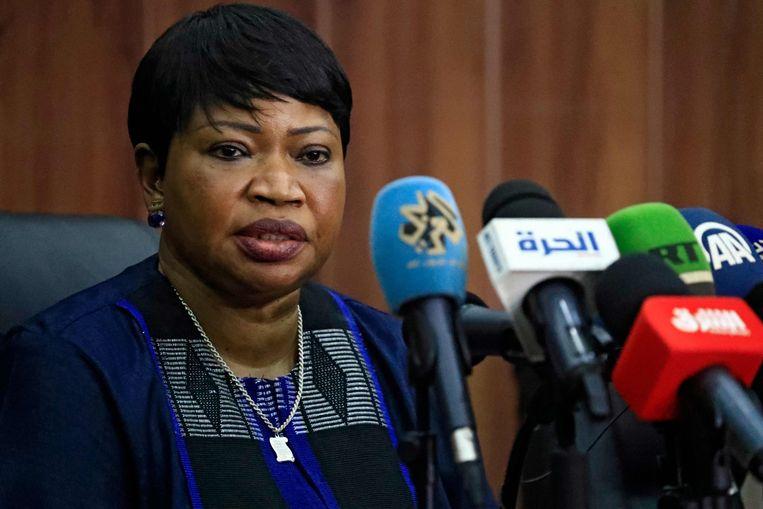 Fatou Bensouda vorige week in de Soedanese hoofdstad Khartoum. Beeld AFP