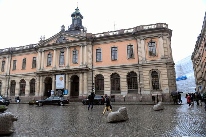 Het kantoor van de Zweedse Academie in Stockholm.
