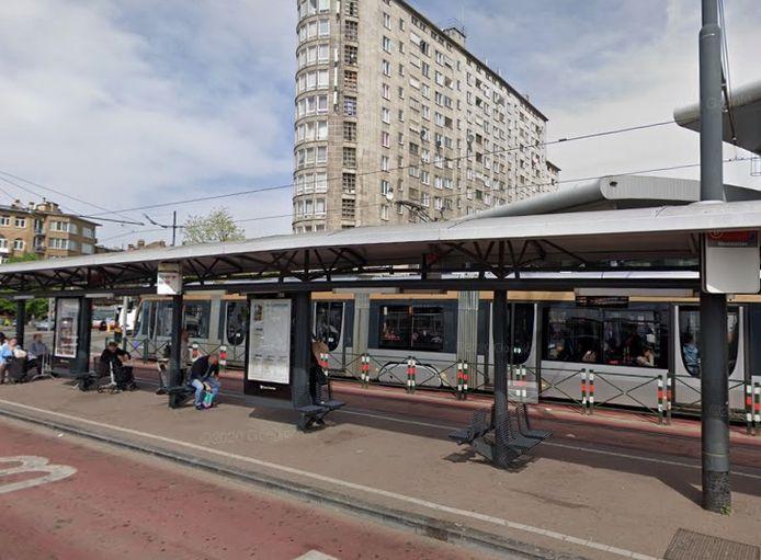 Het metrostation Brussel-West.