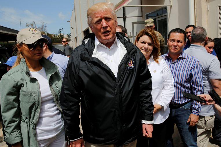 Donald Trump in Puerto Rico. Beeld REUTERS