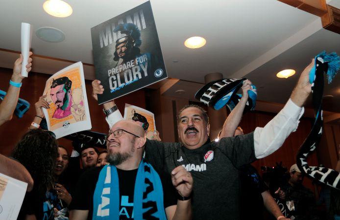 Fans vieren in Miami de komst van de nieuwe MLS-club.