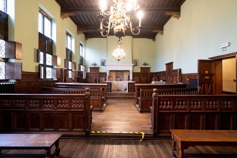 Correctionele zittingzaal in het gerechtshof van Mechelen