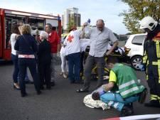 Slachtoffers naar vier ziekenhuizen gebracht