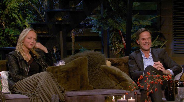 Floortje Dessing en Mark Rutte bij Linda's Wintermaand. Beeld