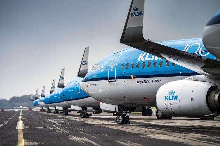 KLM-baas Pieter Elbers denkt dat de 1 miljard euro staatssteun niet genoeg is. Beeld EPA