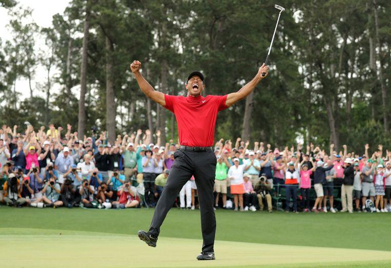 Tiger Woods, Augusta National Golf Club, Georgia, VS - 14 april 2019.  Beeld REUTERS