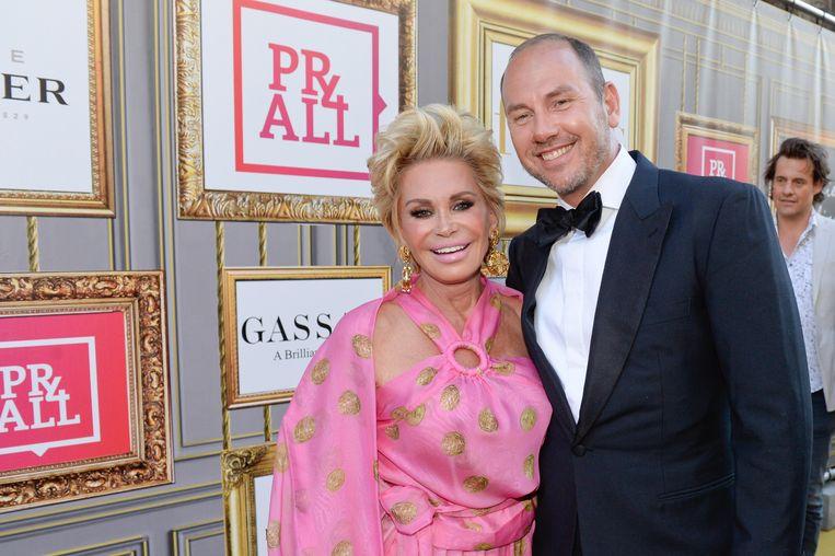 Connie Witteman met haar huidige levenspartner Eugene van Dun.