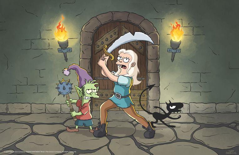 Prinses Bean, Elfo de elf en duiveltje Luci. Beeld Netflix