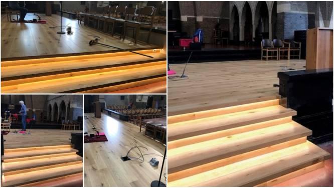 Nieuw vast podium in O.L.V-kerk is af