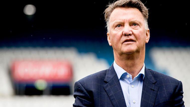 Louis van Gaal wordt analist langs de velden bij internationale voetbalwedstrijden die Ziggo Sport uitzendt. Beeld anp