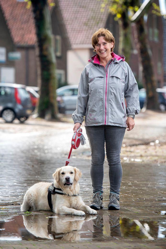 Monika Bisseling met Snow.