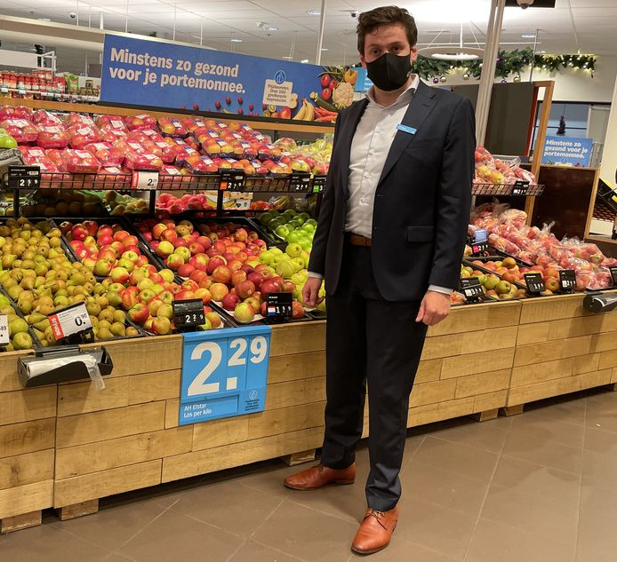 Supermarktmanager Gijs Appels.