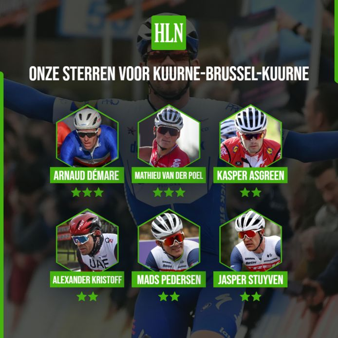 Onze sterren voor Kuurne-Brussel-Kuurne.