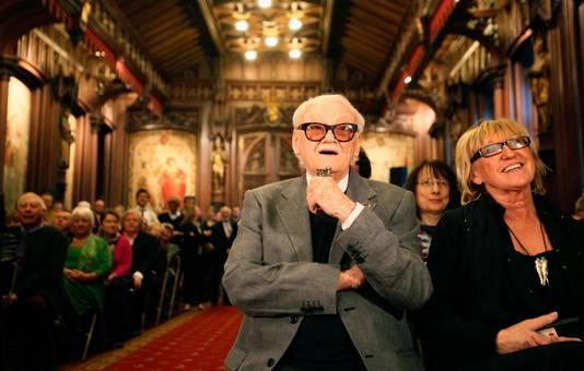 Toots Thielemans bij de viering van zijn 90ste verjaardig in het Brusselse stadhuis in 2012.