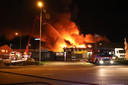 De brand aan de Rouwenboschweg in Nijmegen.