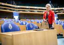 Sigrid Kaag (D66) voorafgaand aan het debat in de Tweede Kamer over de formatie.