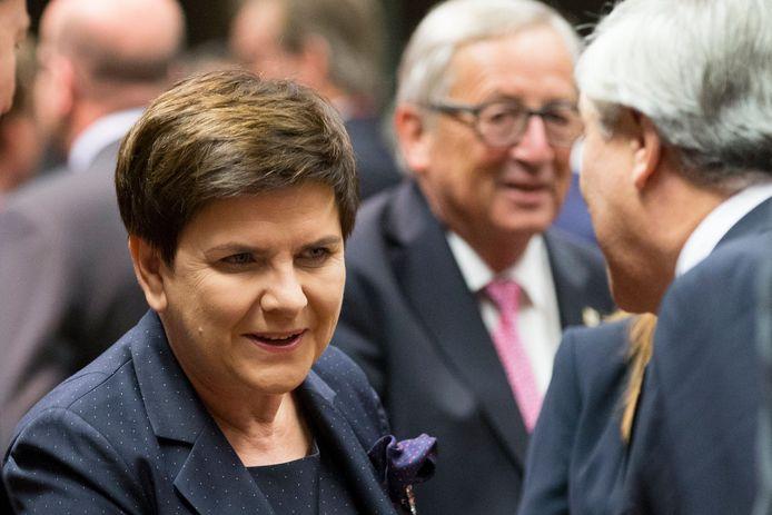 De Poolse premier Beata Szydlo, eerder deze maand in Brussel.