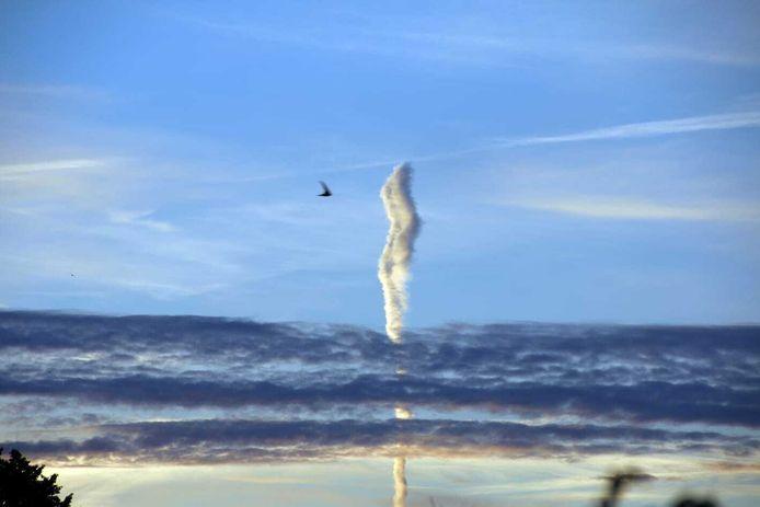 De bijzondere 'wolk' gezien vanaf Den Bosch.