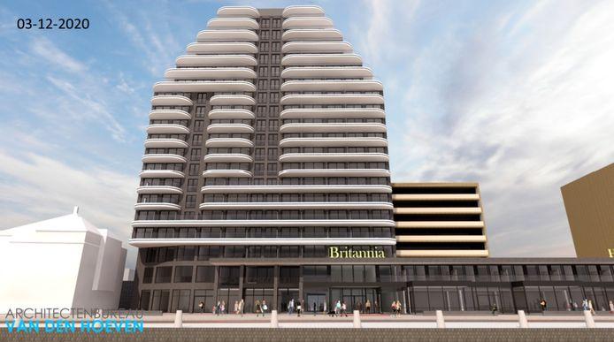 De impressie van het nieuwe grand hotel Britannia in Vlissingen.