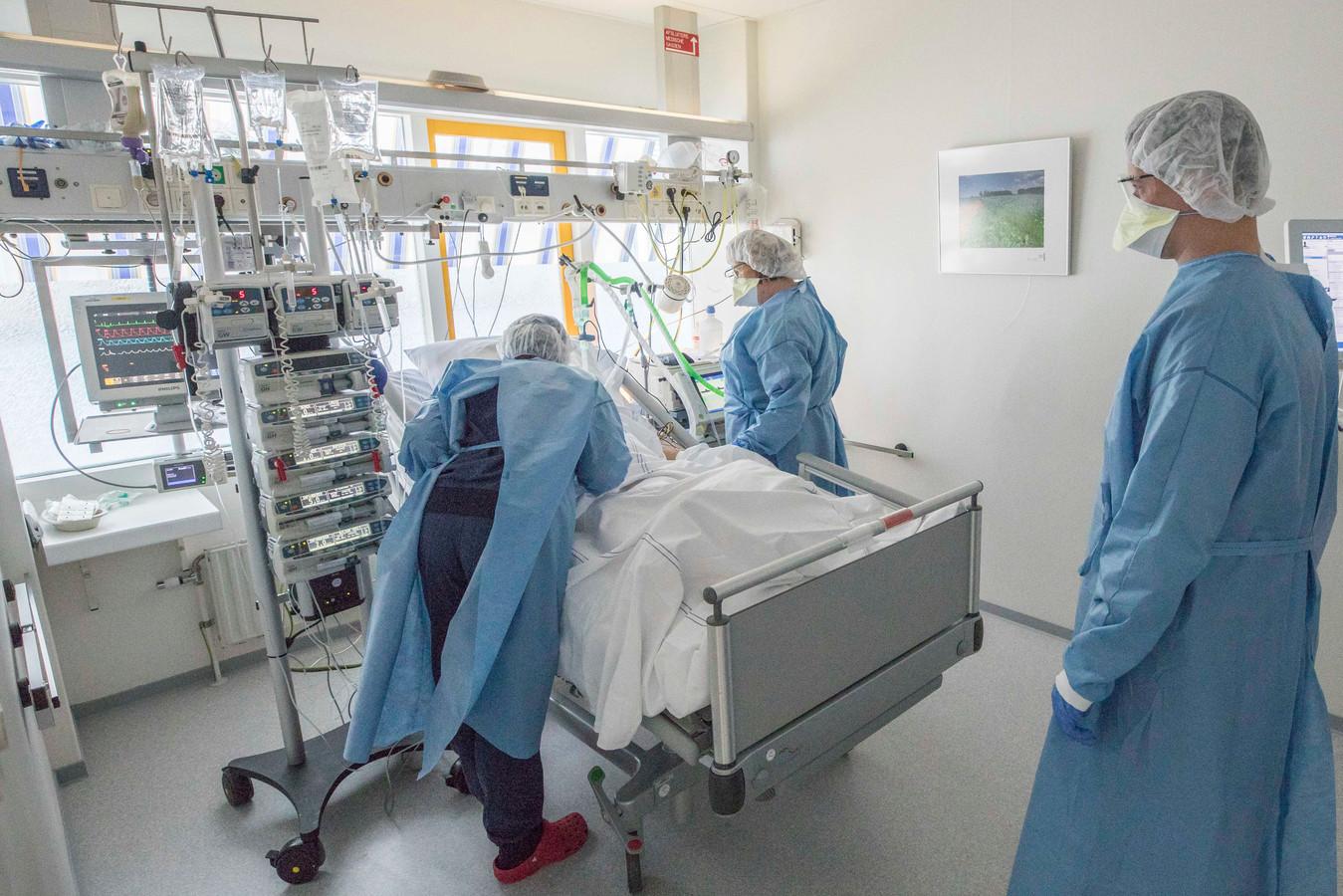 Afdeling intensive care in het Adrz.