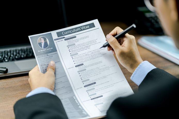 Foto ter illustratie. In de toekomst moet het Curriculum Vitae vervangen worden voor een skills paspoort.