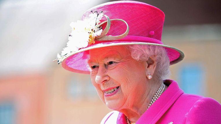 Koningin Elizabeth bij de 500ste verjaardag van de Britse Postal Service, 20 april 2016. Beeld afp