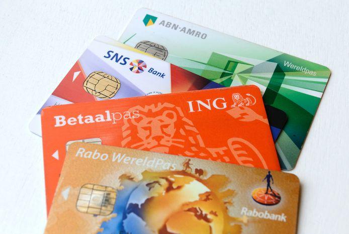 Bankpassen van de Nederlandse banken.