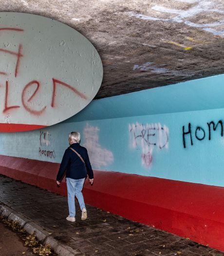 Gemeente Zutphen verwijdert hakenkruizen van muur fietstunnel na klachten van omwonenden