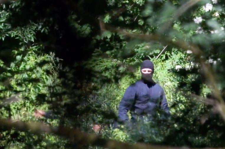 Een still uit een video van de organisatie Lighthouse Reports, dat met verschillende Europese media onderzoek deed naar de pushbacks in Kroatië.  Beeld Lighthouse Report