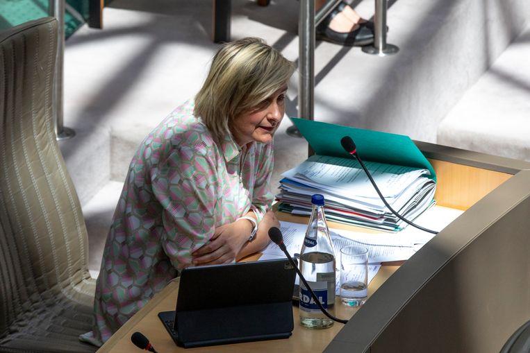 Vlaams minister van Werk, Hilde Crevits (CD&V).  Beeld BELGA