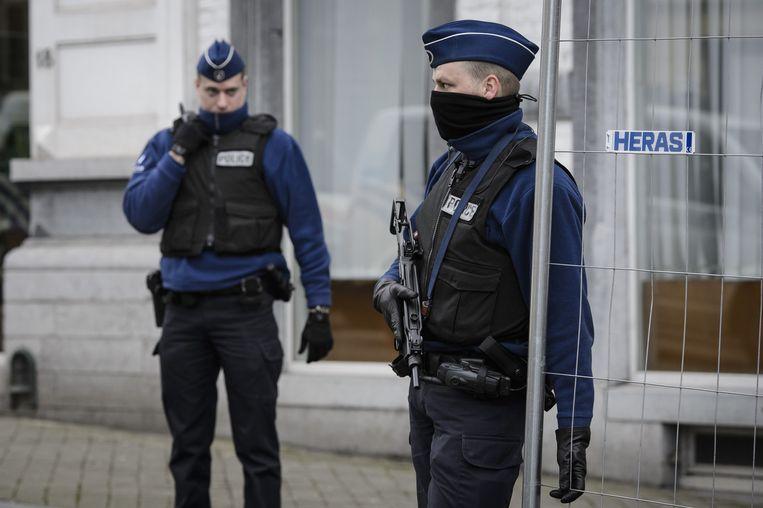 Agenten in Verviers. Beeld belga