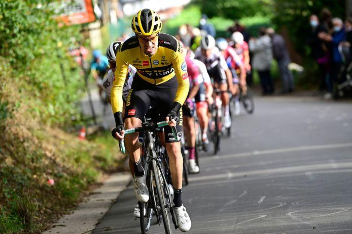 Tom Dumoulin in actie tijdens Luik-Bastenaken-Luik 2020.