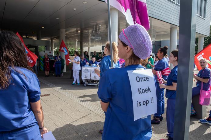 Personeel van het Catharina Ziekenhuis in actie op 10 juli dit jaar.