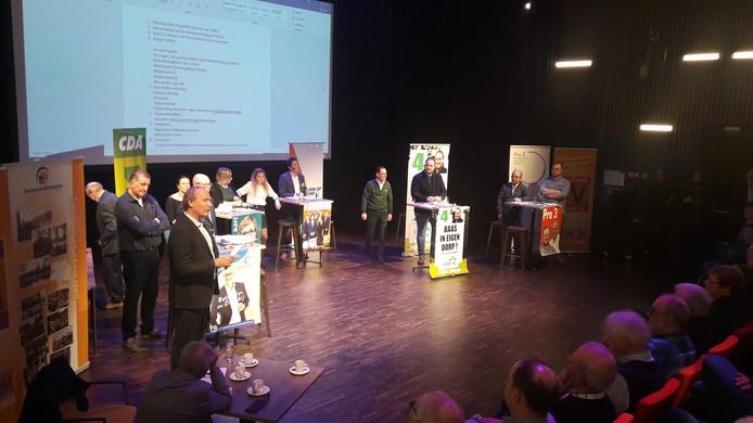 Het lijsttrekkersdebat in de theaterzaal van Het Klavier in Kaatsheuvel.