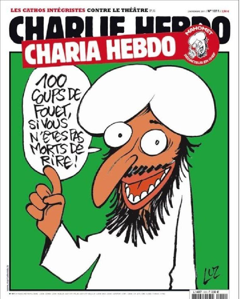 Cover van Charlie Hebdo van deze week. Beeld