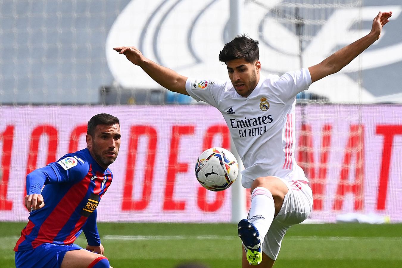 Marco Asensio a montré la voie au Real en inscrivant le premier but de l'après-midi.