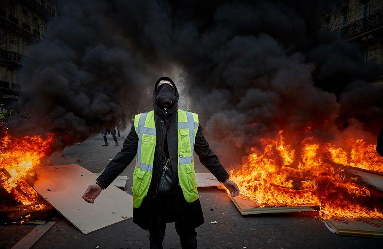 Ruim twee jaar geleden kwam het tot extreem geweld bij maandenlange demonstraties van de Gele Hesjes. Beeld Getty Images
