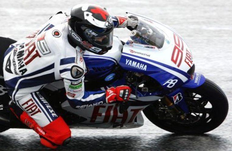 Wegracer Jorge Lorenzo tijdens de training op het circuit van Estoril. ANP Beeld