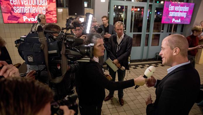 Diederik Samsom voorafgaand aan de presentatie van het conceptverkiezingsprogramma.