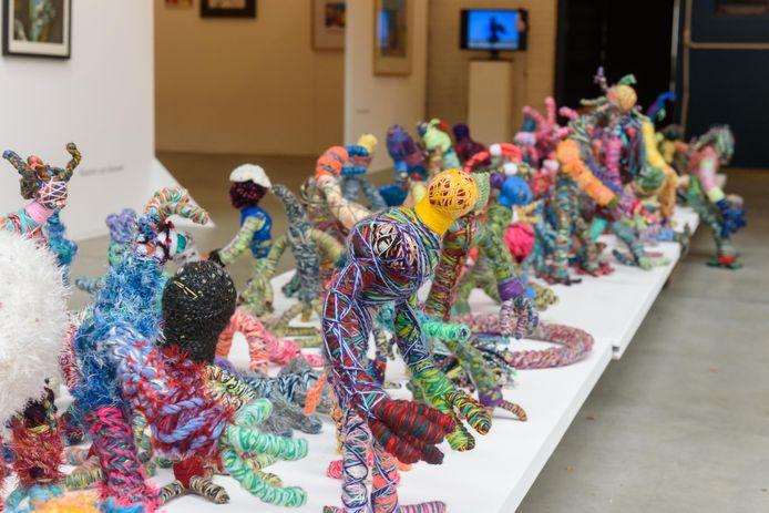 Manifestatie Art Brut. Kunst van onder anderen gehandicapten en psychiatrie-patiënten.