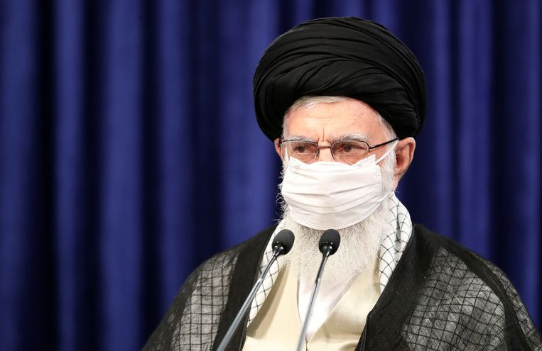 Irans leider Ayatollah Ali Khamenei. Beeld Hollandse Hoogte / EPA