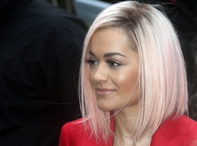 Rita Ora, een van de leden van Band Aid 30. Beeld epa