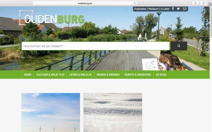 Zo ziet de website van Oudenburg er nu uit, met vooral groene tinten.
