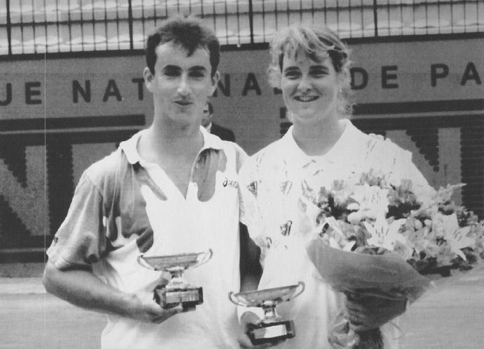Menno Oosting en Kristie Boogert wonnen in 1994 verrassend het gemengd dubbelspel op Roland Garros.