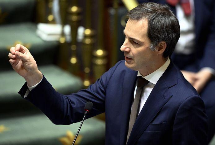 Le Premier ministre Alexander De Croo à la Chambre ce jeudi.