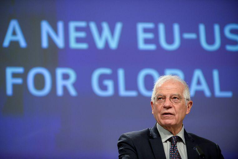 EU-buitenlandcoördinator Josep Borrell, hier op archiefbeeld uit december 2020.  Beeld AP